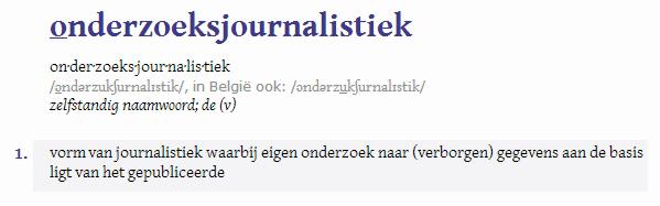 Definitie Van Dale
