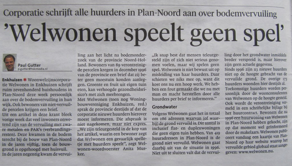 Noordhollands Dagblad, 21 mei 2014